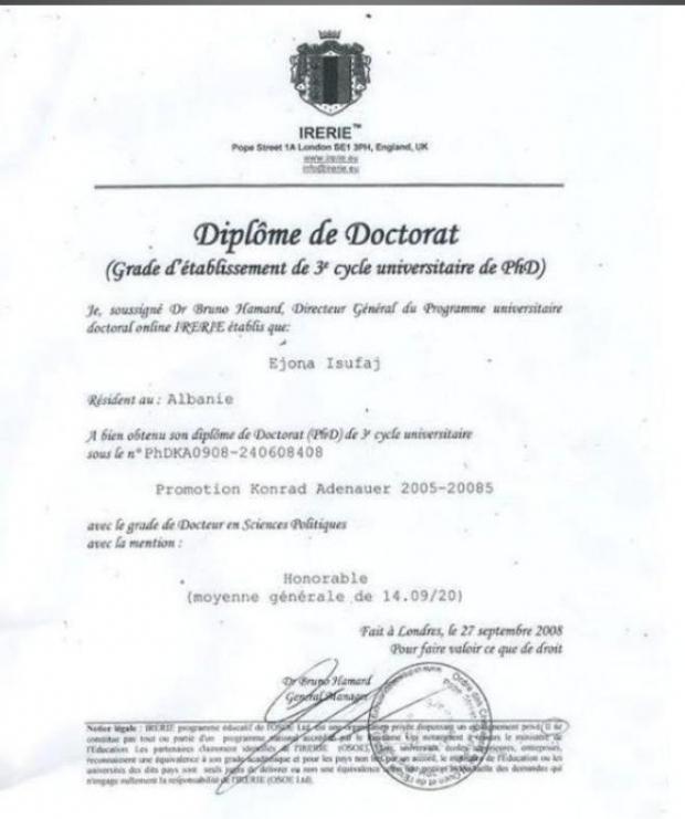 diploma ejona esufi