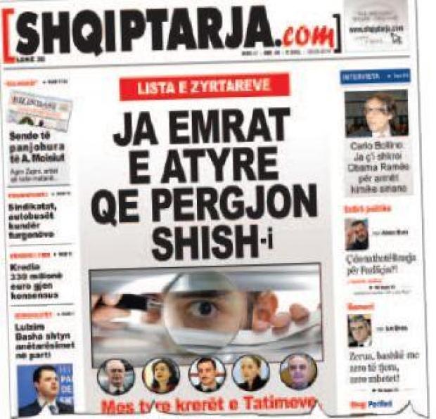 prgjimet e paligjshme t shish ndaj zyrtarve t partis socialiste dhe deputetve t saj sht denoncuar n muajin mars nga gazeta shqiptarja com