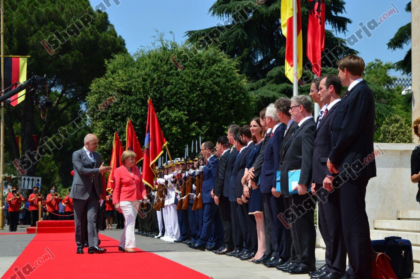 Angela Merkel - Tirana
