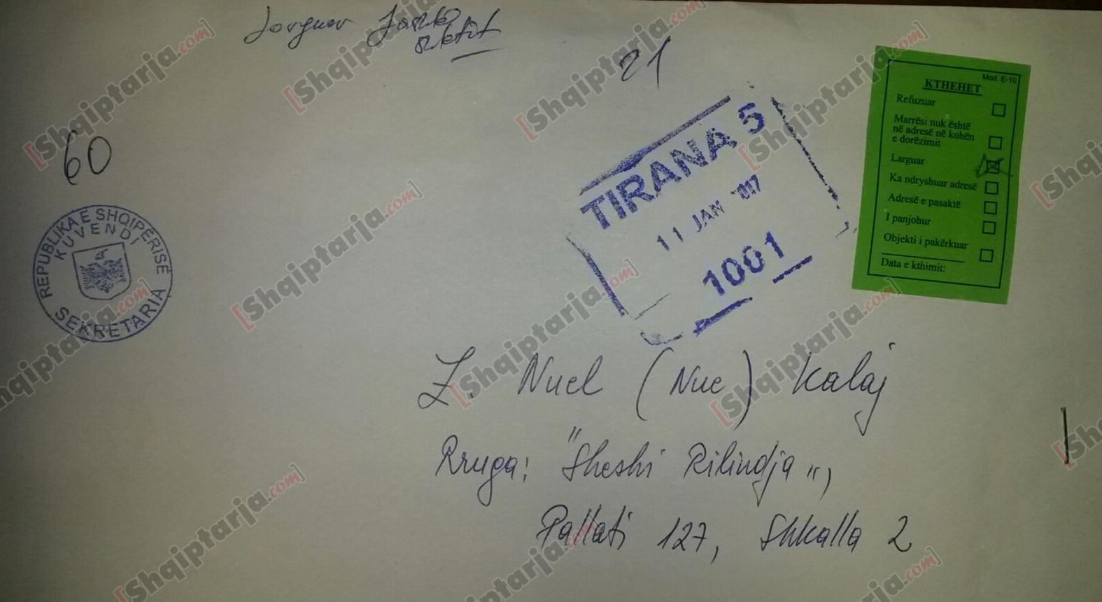letra e nuel kalaj me logo shqiptarja