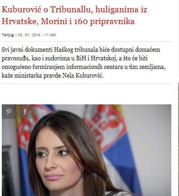 Faksimile e lajmit te Blic